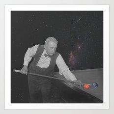 Pool Man Art Print