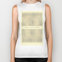 joy division Biker Tanks featuring joy division by ░░░░░░░░░░░░