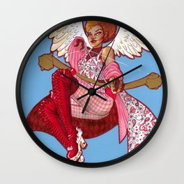 Cupid's Crosshairs Wall Clock