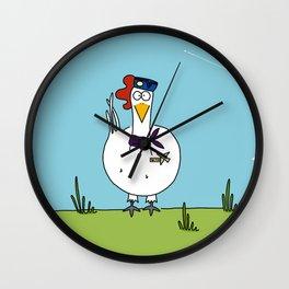 Eglantine la poule (the hen) dressed up as an air hostess Wall Clock