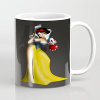 snow white Mugs featuring Snow White by Greg Guillemin