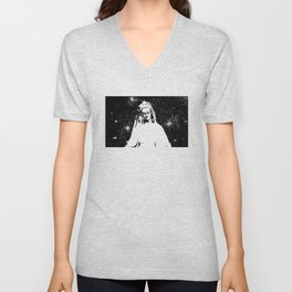 Mary Watches from the Heavens Unisex V-Neck