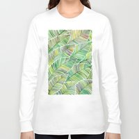tropical Long Sleeve T-shirts featuring Tropical Green by Cat Coquillette