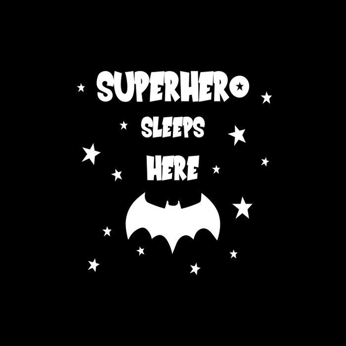 Superhero Sleeps Here (Black) Comforters