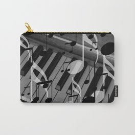 music notes white black piano keys Carry-All Pouch