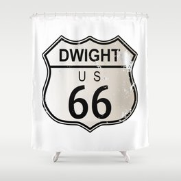 Dwight Route 66 Shower Curtain