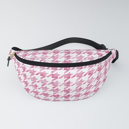 Watermelon Pink Houndstooth pattern Fanny Pack