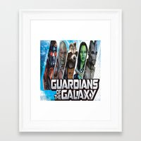 guardians of the galaxy Framed Art Prints featuring guardians of the galaxy by store2u