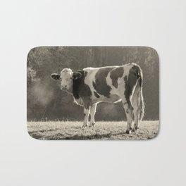 Cow in Field Bath Mat