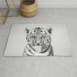 Baby Tiger - Black & White Rug