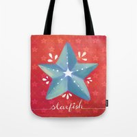 starfish Tote Bags featuring Starfish by Anoosha Syed