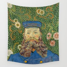 Portrait of the Postman Joseph Roulin by Vincent van Gogh Wall Tapestry
