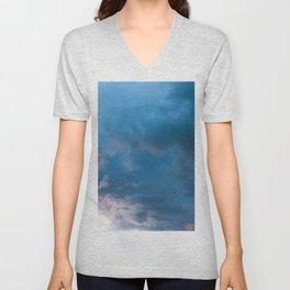 Dreamy Cloudscape Unisex V-Neck