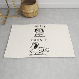 Inhale Exhale Japanese Chin Rug