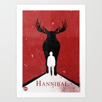 hannibal Art Prints featuring Hannibal by Alex Santaló