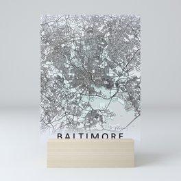 Baltimore MD USA White City Map Mini Art Print