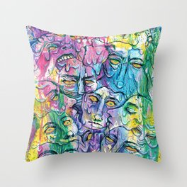 Melting My Face Off Throw Pillow