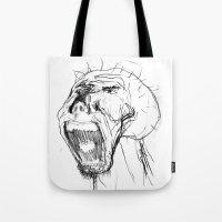 beast Tote Bags featuring Beast by Luis C. Araujo