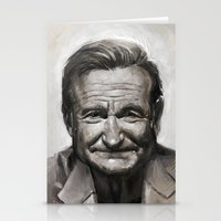 robin williams Stationery Cards featuring Robin williams by MK-illustration