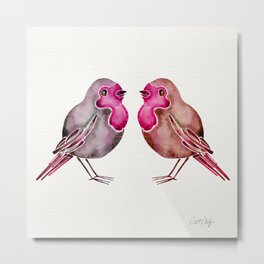 Rosie Birds Metal Print