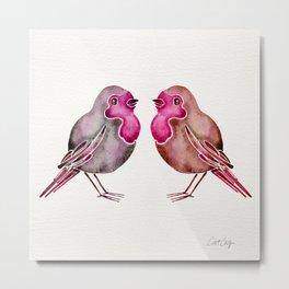 Rosie Birds Metal Print