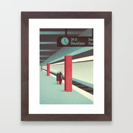 Day Trippers #3 - Waiting Framed Art Print