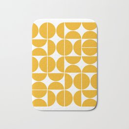 Mid Century Modern Geometric 04 Yellow Badematte
