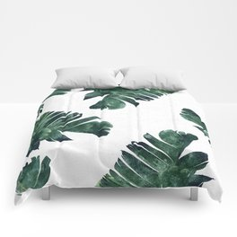 Banana Leaf Watercolor #society6 #buy #decor Comforters