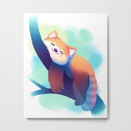 Dreaming Red Panda Metal Print