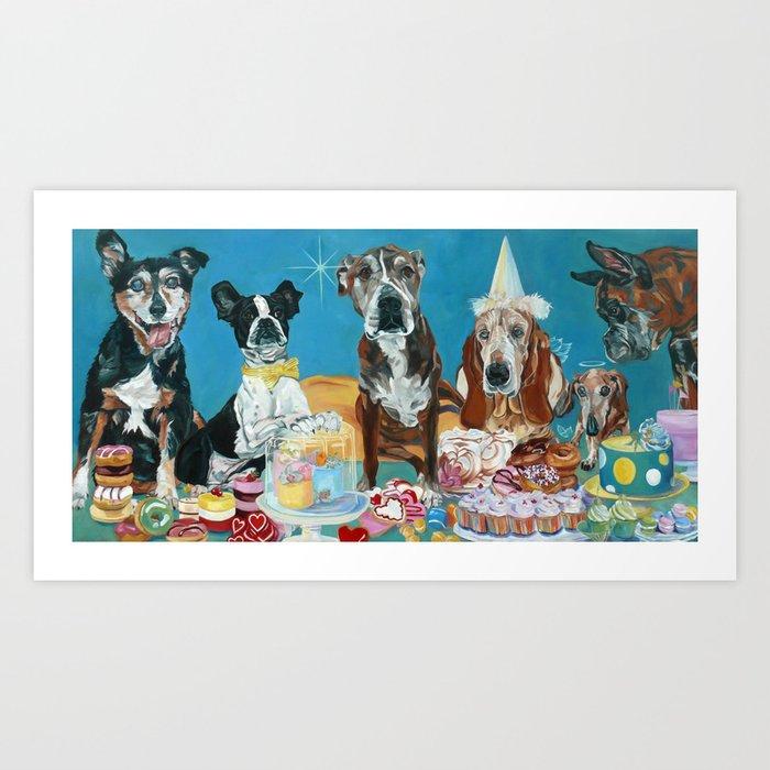 The Last Dessert Dog Portrait Art Print