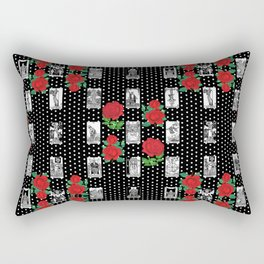 Tarot and Roses - Romantic Major Arcana Pattern Rectangular Pillow
