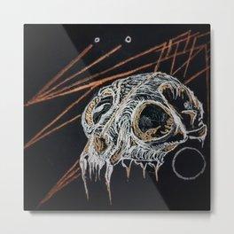 Geometric Cougar Skull Metal Print
