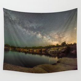 Milkyway at Halibut Point State Park quarry Wall Tapestry