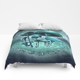 Mystic Mushrooms Comforters