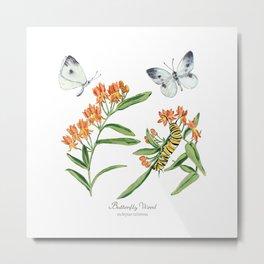Butterflies and Blooms Metal Print
