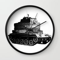 kafka Wall Clocks featuring Kafka Tank by paragraph