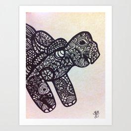 zen turtle Art Print
