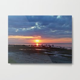 Sunset under Stormy Skies Metal Print