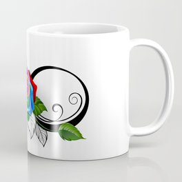 Infinity Symbol with Rainbow Rose Coffee Mug