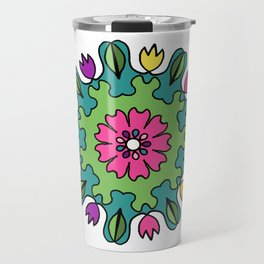 Tulip Delights Mandala Travel Mug