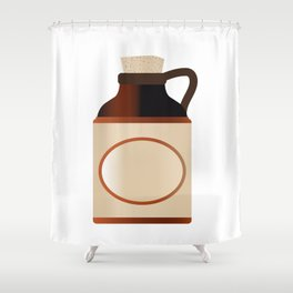 Blank Stone Bottle With Cork Shower Curtain