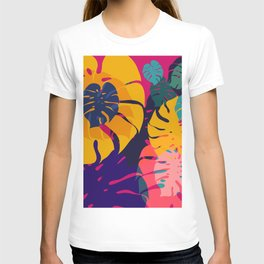 Aloha Floral Pop Art Pattern T-shirt