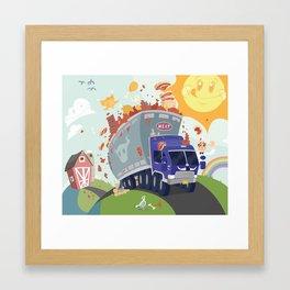 Merry Meat Mobile Framed Art Print