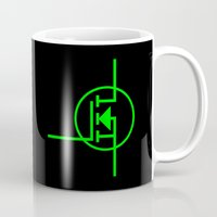 transistor Mugs featuring N-TYPE MOSFET by EEShirts