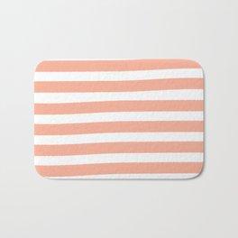 Brushy Stripes - Orange Bath Mat
