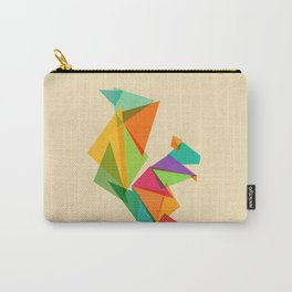 Fractal geometric Squirrel Carry-All Pouch