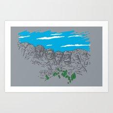 Presidents on a Mountain Art Print