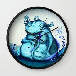 blue monster Wall Clock