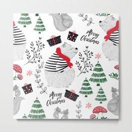 Seamless pattern for Christmas Metal Print