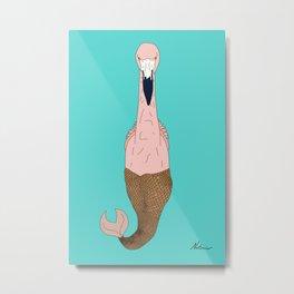Mer Pink Flamingo Metal Print